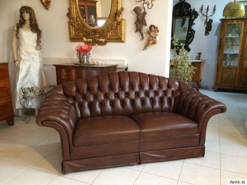 Chesterfield Clubsofa Diwan Couch Antikbraun Zigarrenbraun 6538