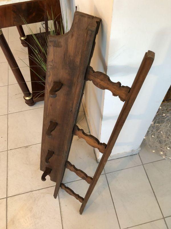 Originales bäuerliches Regal Stellage Tellerboard Bord Naturholz X1145