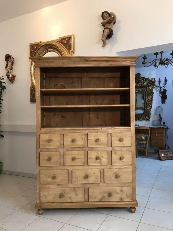 Praktisches Bücherregal Stellage Gründerzeit Ladenschrank Fichtenholz - W1440