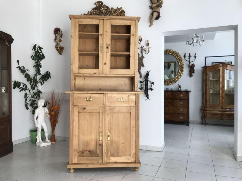 Jugendstil Küchenschrank Naturholz Fichtenholz - Kredenz W3139