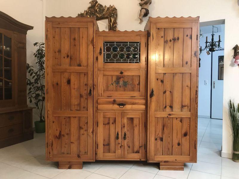 Massive Zirbenholz Kredenz Bauernschrank Küchenschrank Buffet - W3355