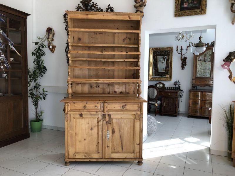 Massives Tellerboard Küchenregal Fichtenholz Naturholzmöbel Bauernstube X1546