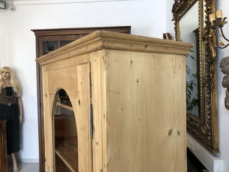 Bäuerliche Spätbiedermeier Vitrine Bauernschrank Bücherschrank X1554 7