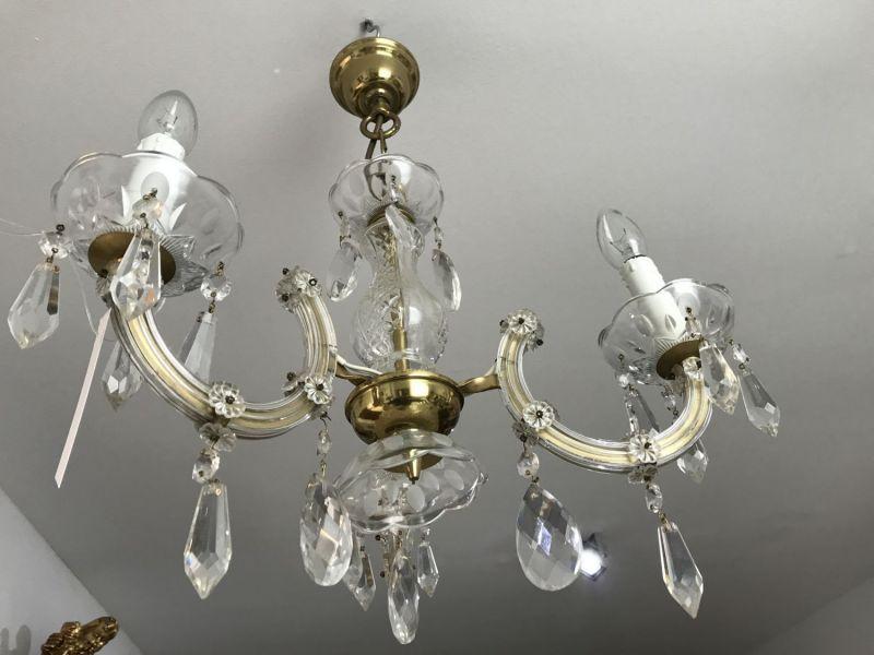 Glasluster Deckenleuchter Kronleuchter Maria Theresia  - W1672