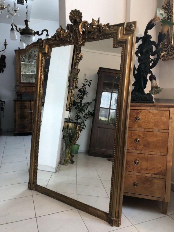 Barocker Florentiner Spiegel Kronen Schnitzkunst Original X1606