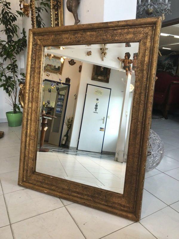 Originaler Biedermeier Spiegel Holzspiegel geschliffen X1607