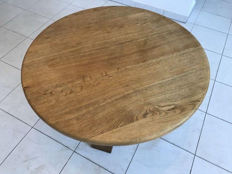 Massiver couchtisch wohnzimmertisch eichenholz glastisch for Glastisch wohnzimmertisch