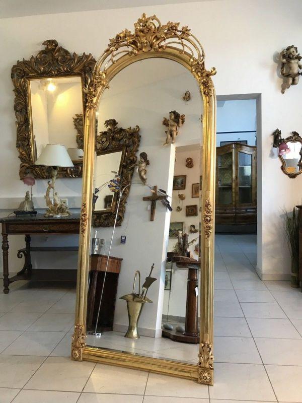 Traumhafter vergoldeter Florentiner Rahmen Spiegel Traumspiegel Original groß -
