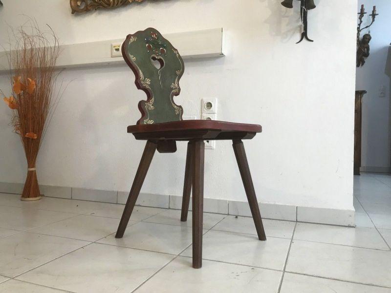 Originaler Voglauer Stuhl Sessel Herzerlstuhl hand bemalt W3317