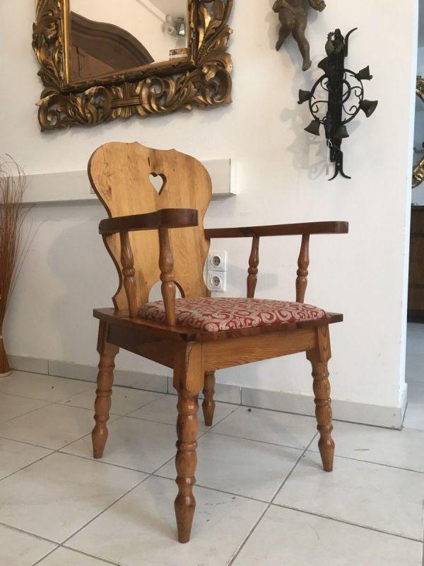Uriger Bauernsessel Stuhl Sessel Armlehnstuhl W3306