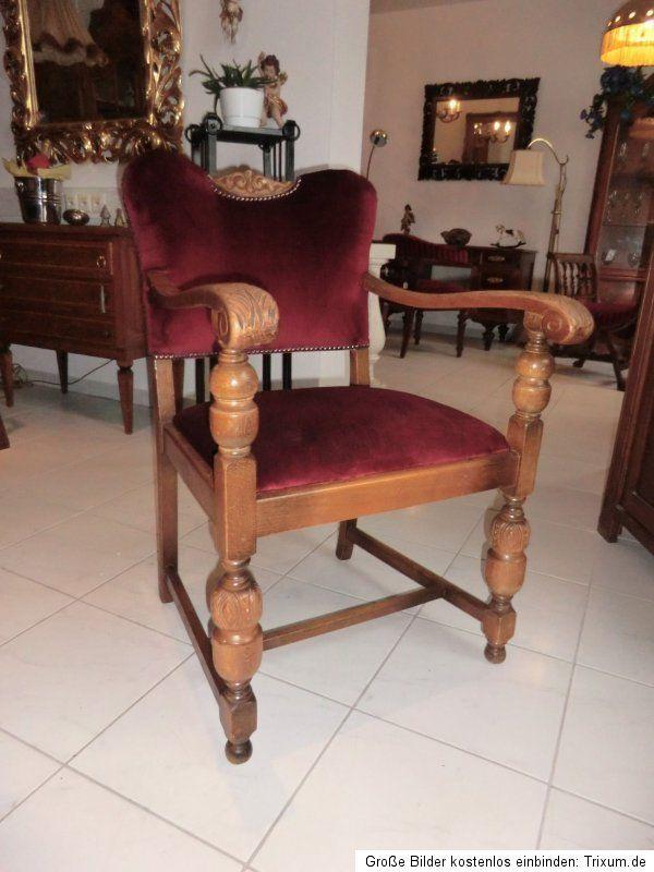 Historismus Armlehnstuhl Sessel Stuhl Schreibtischsessel Nr. 5456