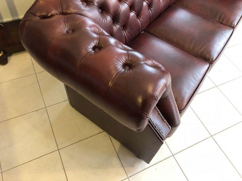 Chesterfield 3er Clubsofa Diwan Couch Oxblood Antik Rotbraun -X1175 10