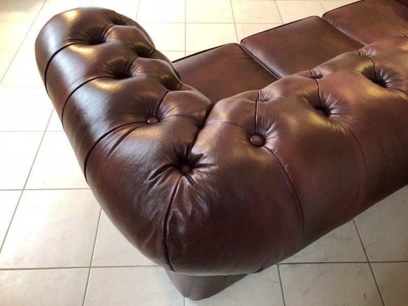 Chesterfield 3er Clubsofa Diwan Couch Oxblood Antik Rotbraun -X1175 5