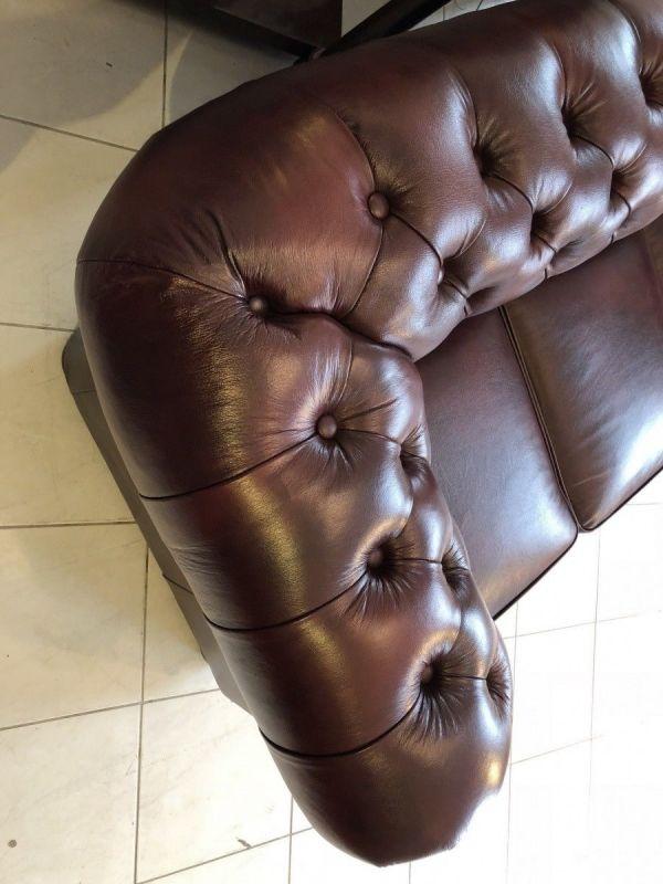 Chesterfield 3er Clubsofa Diwan Couch Oxblood Antik Rotbraun -X1175 8