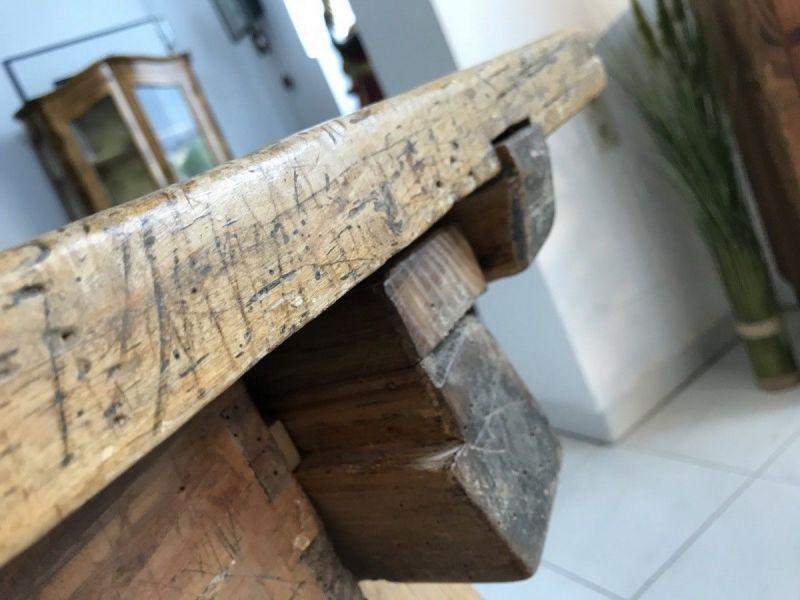 Uriger Tiroler Schragltisch aus der Zeit um 1760 Rhöntisch Traum Nussholz W3184 10