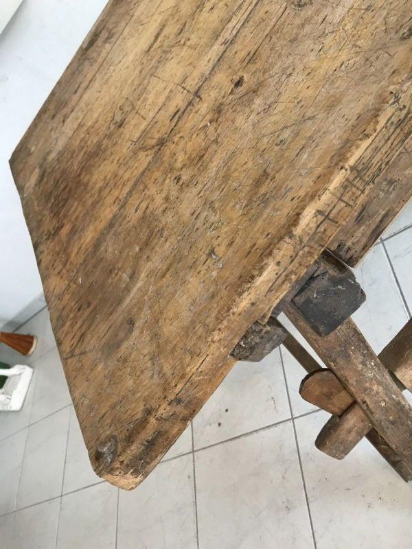 Uriger Tiroler Schragltisch aus der Zeit um 1760 Rhöntisch Traum Nussholz W3184 4