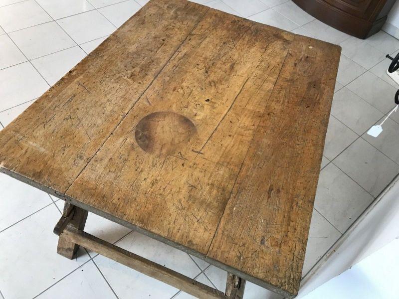 Uriger Tiroler Schragltisch aus der Zeit um 1760 Rhöntisch Traum Nussholz W3184 7