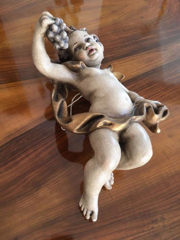 Engelsfigur Engel Holzfigur Holzschnitzerei Himmlisch Traum A1662