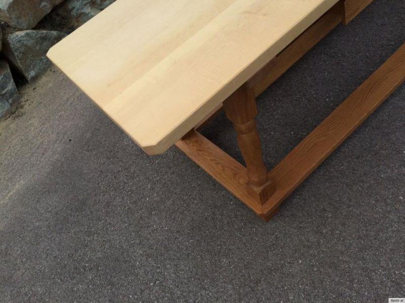 Alter uriger Jogltisch Bauerntisch Tafeltisch Tisch Ahorn Eiche 220 x 75 - 9091 1