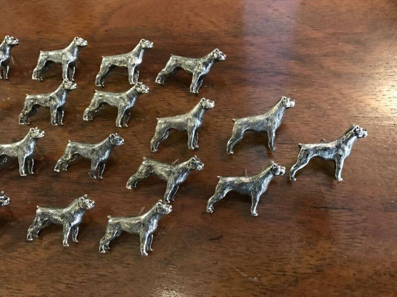 Figürliche Anstecknadel Metall Pin Brosche Hundeform Boxer 17-tlg - W1343 0