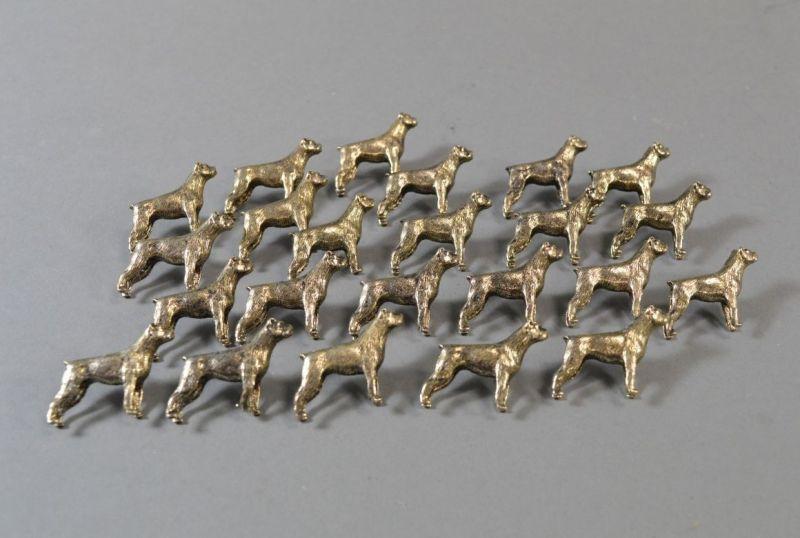 Figürliche Anstecknadel Metall Pin Brosche Hundeform Boxer 17-tlg - W1343 2