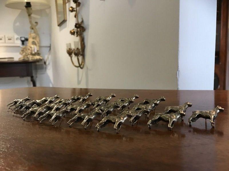 Figürliche Anstecknadel Metall Pin Brosche Hundeform Boxer 17-tlg - W1343 3