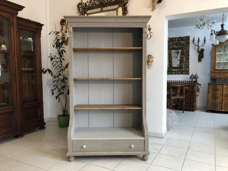 Massives Bücherregal Stellage Gründerzeit Bücherschrank Naturholzmöbel X1324 0
