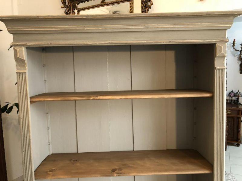 Massives Bücherregal Stellage Gründerzeit Bücherschrank Naturholzmöbel X1324 1
