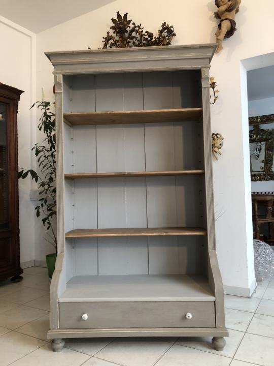 Massives Bücherregal Stellage Gründerzeit Bücherschrank Naturholzmöbel X1324 9