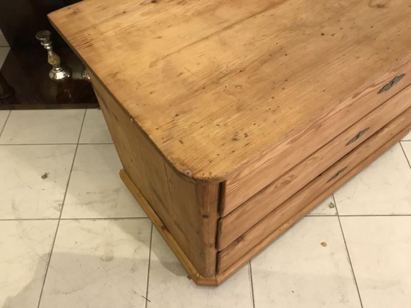 Original 3 Ladenkommode Kommode Fichtenholz  Biedermeier - W3370 2