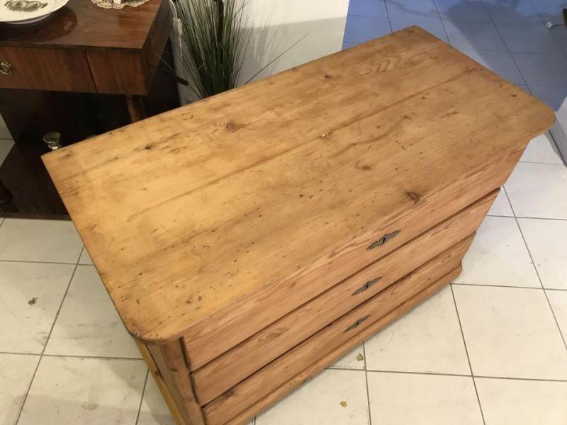 Original 3 Ladenkommode Kommode Fichtenholz  Biedermeier - W3370 3
