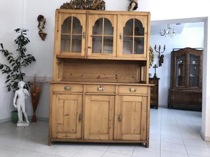 Jugendstil Küchenschrank Naturholz Fichtenholz - Kredenz W3055