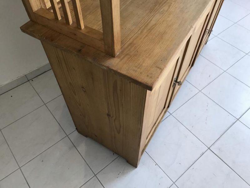 Jugendstil Küchenschrank Naturholz Fichtenholz - Kredenz W3055 1