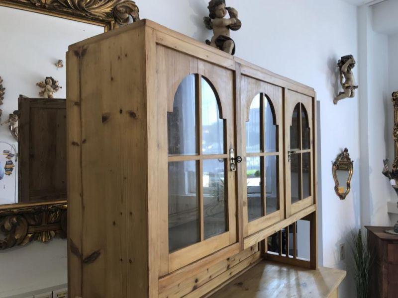Jugendstil Küchenschrank Naturholz Fichtenholz - Kredenz W3055 2