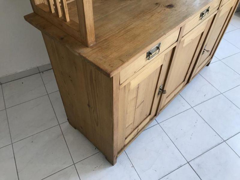 Jugendstil Küchenschrank Naturholz Fichtenholz - Kredenz W3055 3