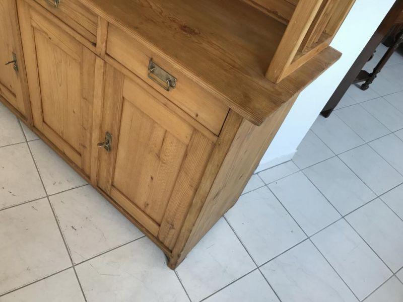 Jugendstil Küchenschrank Naturholz Fichtenholz - Kredenz W3055 6