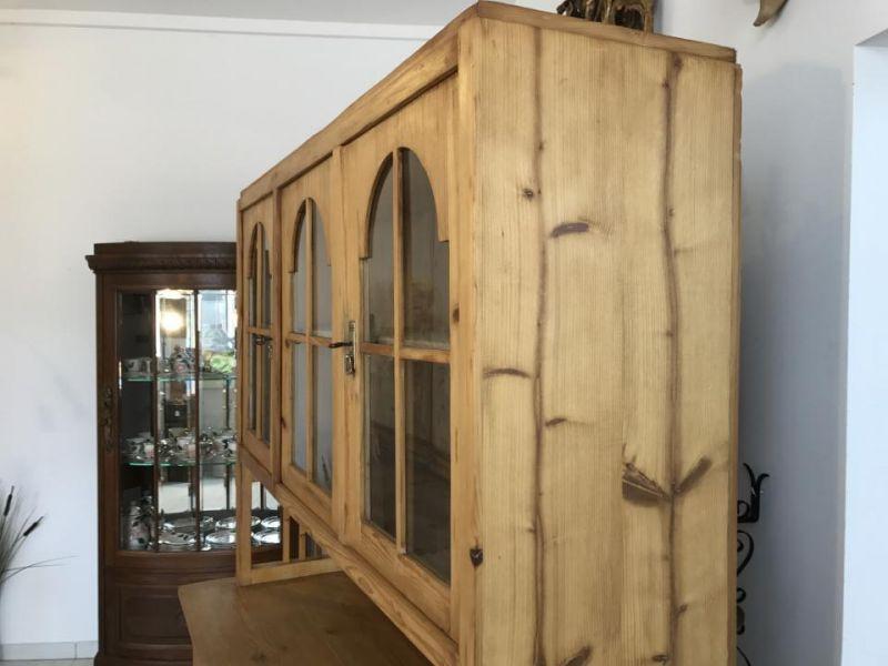 Jugendstil Küchenschrank Naturholz Fichtenholz - Kredenz W3055 7