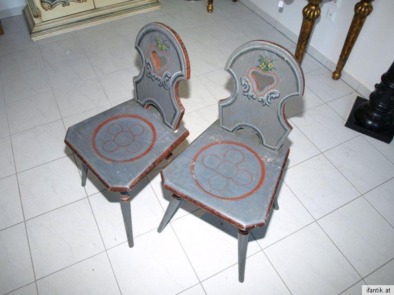 Bauernsessel Sessel Stuhl Bauernmöbel handbemalt Nr 6317 1