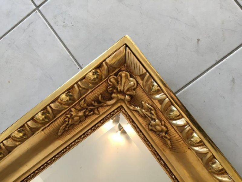 Biedermeier Ochsenaugen Spiegel Rahmen um 1845 23k vergoldet A1625 5