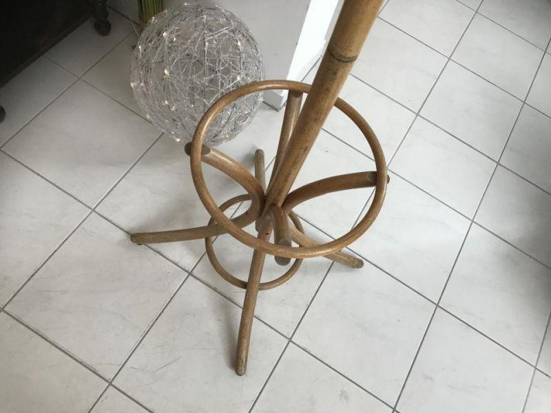 Originaler alter Holz Kleiderständer Hutablage Bugholzmöbel W1780 1