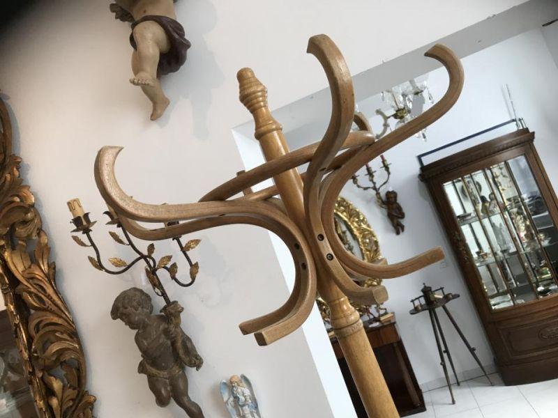 Originaler alter Holz Kleiderständer Hutablage Bugholzmöbel W1780 2