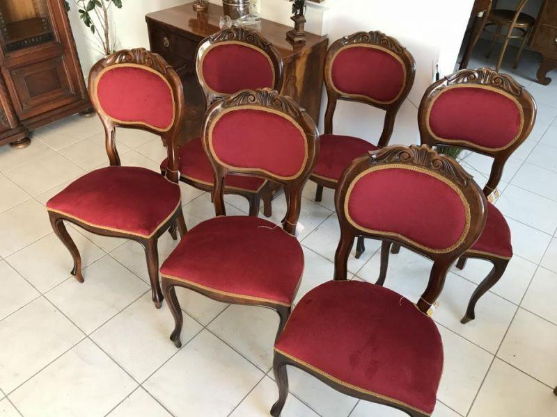 Restauriertes 6er Set Sessel Barockstil Restauriert Stühle Sitzmöbel Traum X1090
