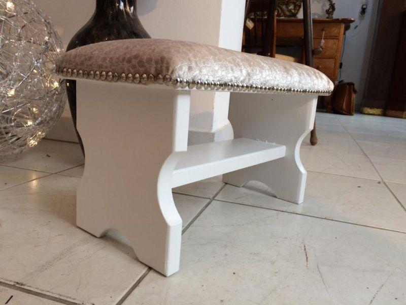 Hübscher stilvoller Hocker Barockstil Sitzhocker Fusshocker Schemel - W1280 0