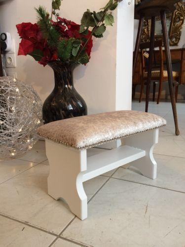 Hübscher stilvoller Hocker Barockstil Sitzhocker Fusshocker Schemel - W1280 2