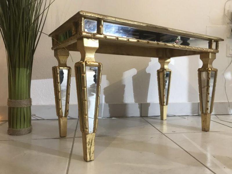 Hübsches goldenes Beistelltischerl Beistelltisch Barockstil W3541