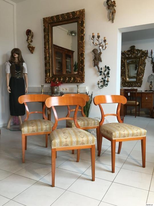4 hübsche stilvolle Biedermeier Schaufelstuhle Sessel Traumstück A1337