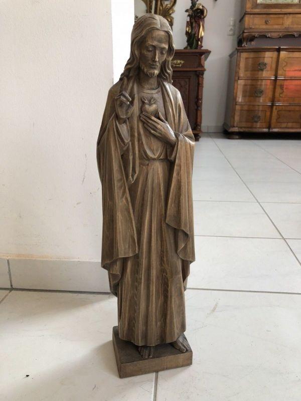 Heiligenfigur Christus der Auferstandene Holzfigur Herzjesus  X2043