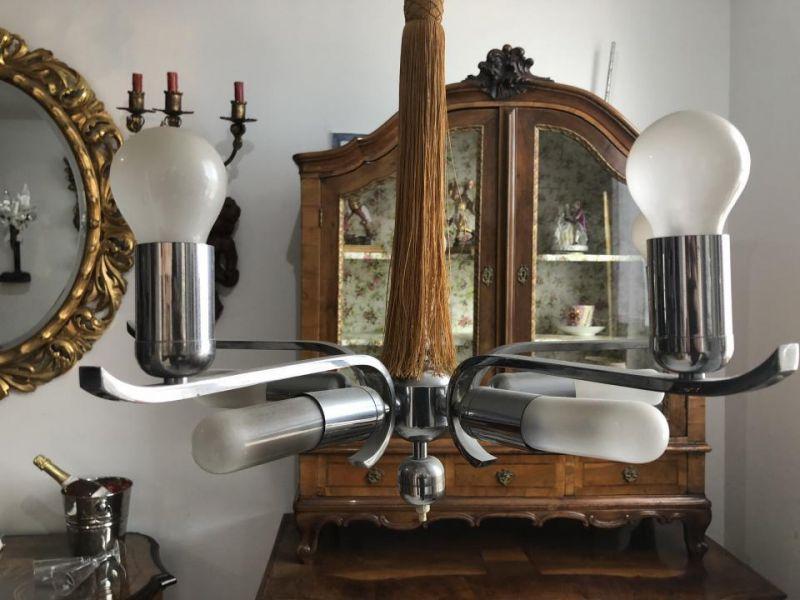 Hübscher Art Deco Luster Leuchter Prachtluster X1256