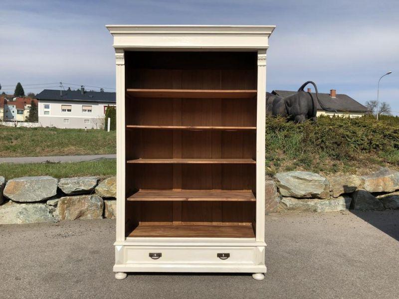 Massives Bücherregal Stellage Gründerzeit Bücherschrank Naturholzmöbel X1484