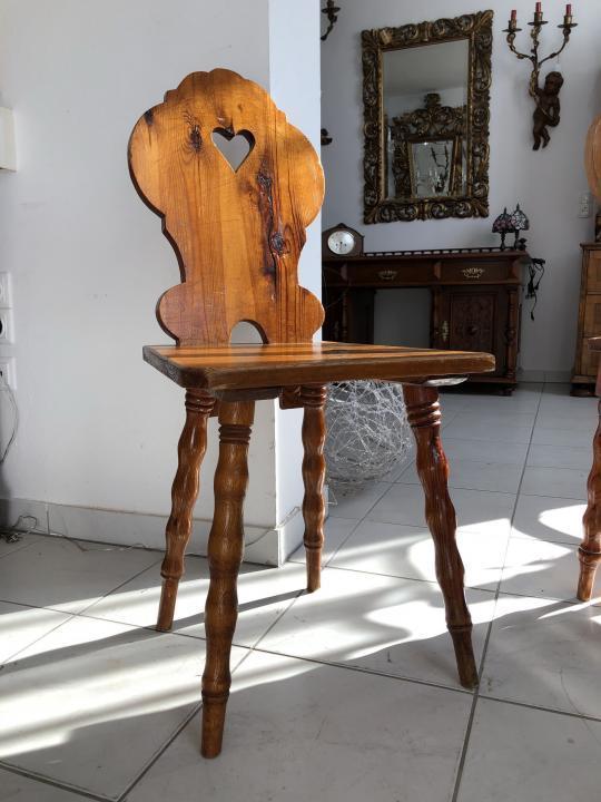 Uriger Bauernsessel Sessel Stuhl Herzerlsessel Zirbenholz X1481